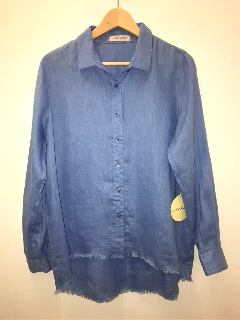 Frayed Edge Shirt - 2 Colours