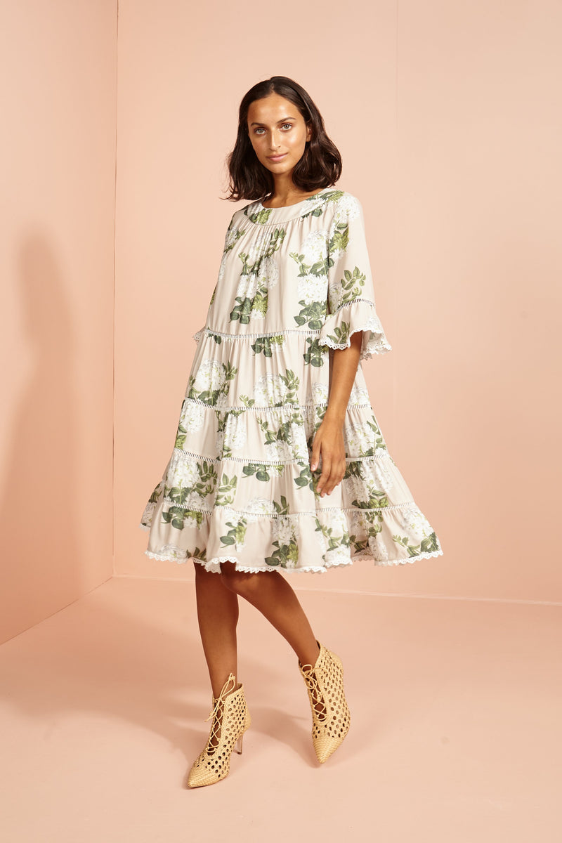 The lotus Swing layer Dress-Jasmine