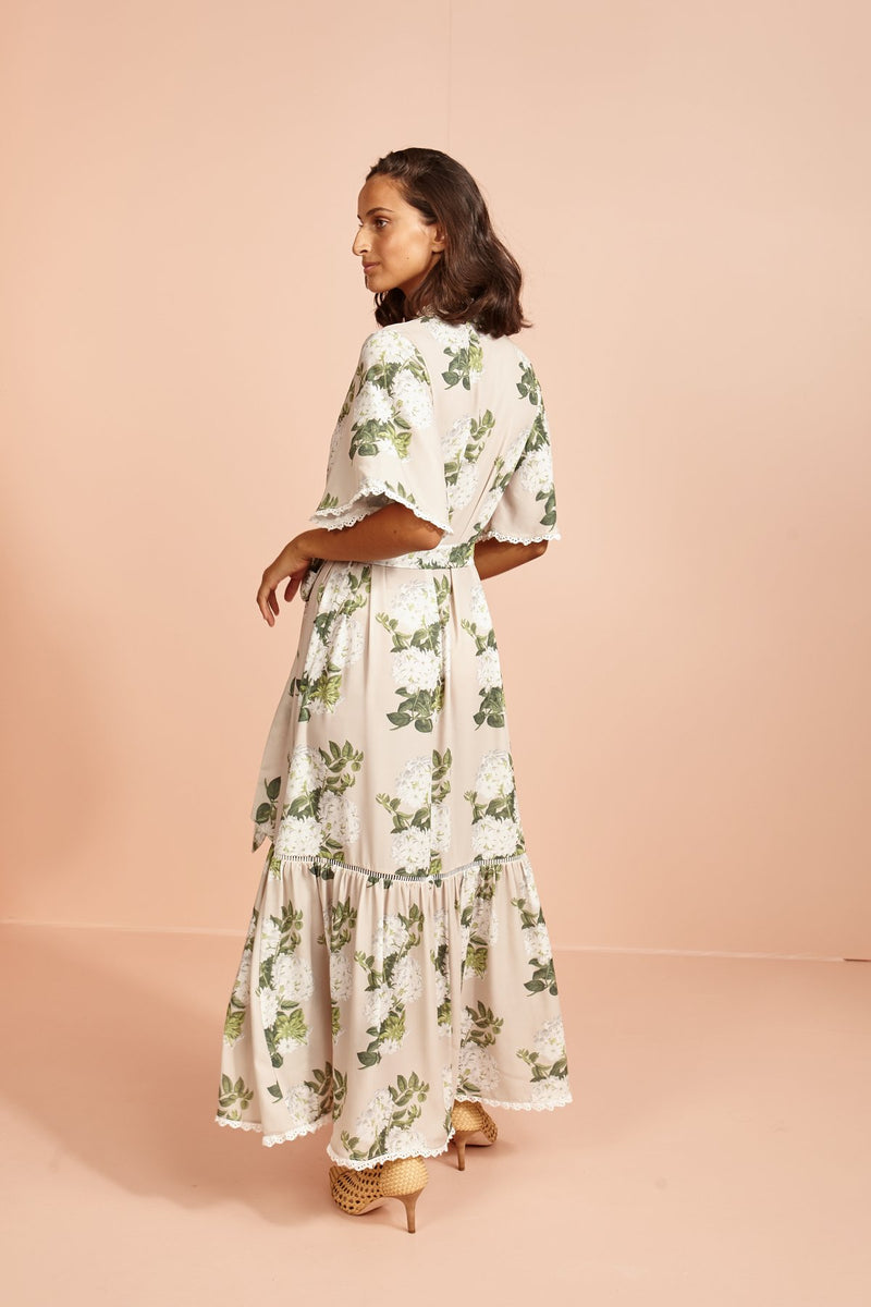 Monsoon Wedding Maxi Shirt Dress-Jasmine