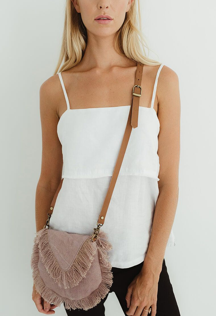 Canvas Fringe Bag