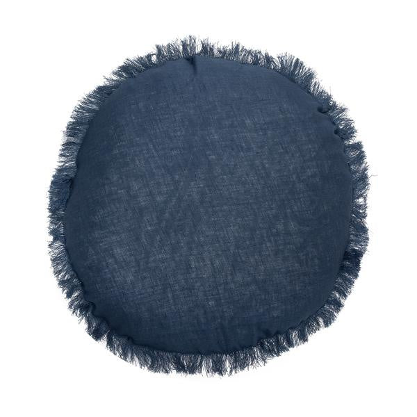 Remy Round Linen Cushion - 4 Colours
