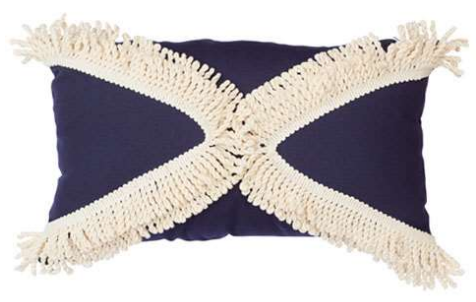 Navy Triangle Fringe