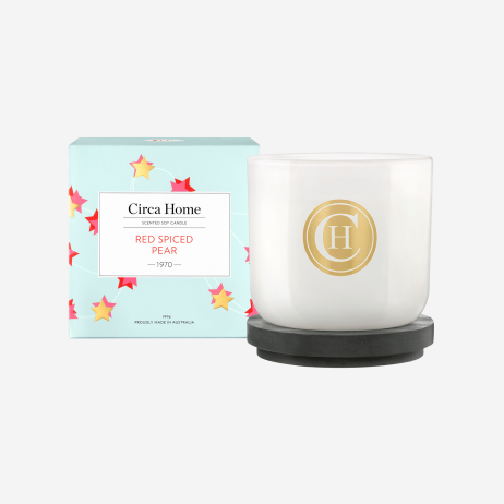Red Spiced Pear Soy Candle