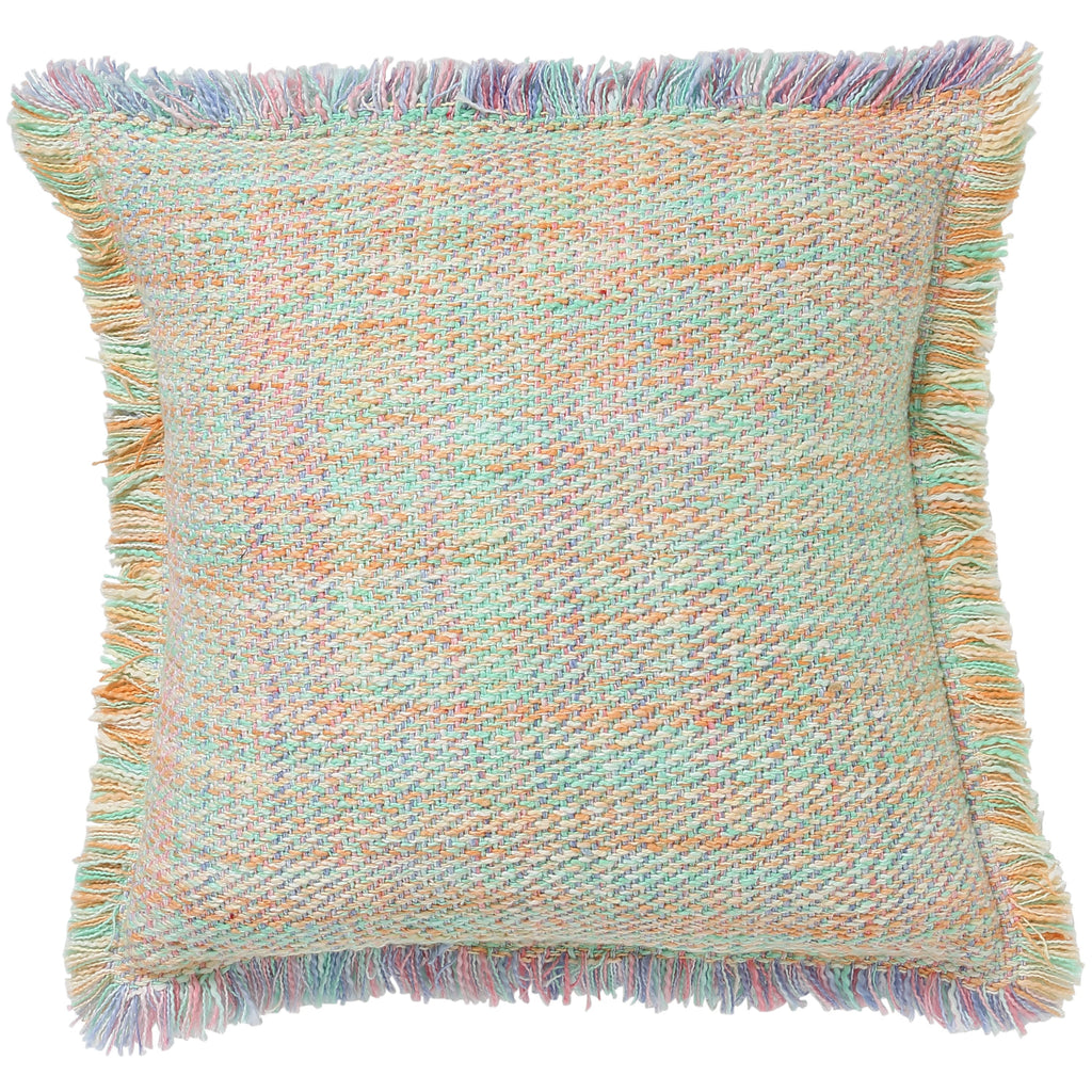 Multicoloured Melange Woven Cushion