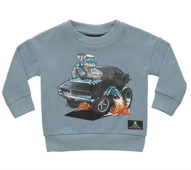 Hot Rod Sweatshirt / 3-8 YEARS