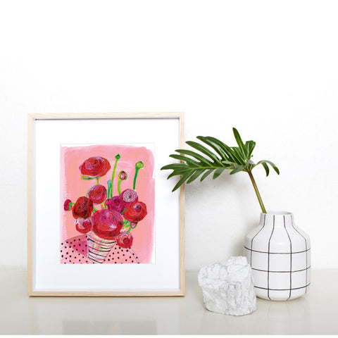 A3 Print 'Flowers on My Table''