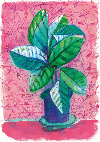A3 Print 'Happy House Plant'