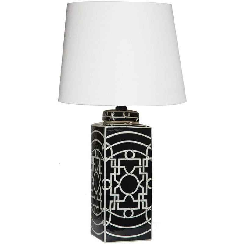 Geometric Black Lamp