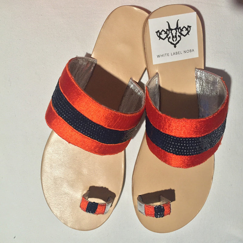 Orange and Navy Slide