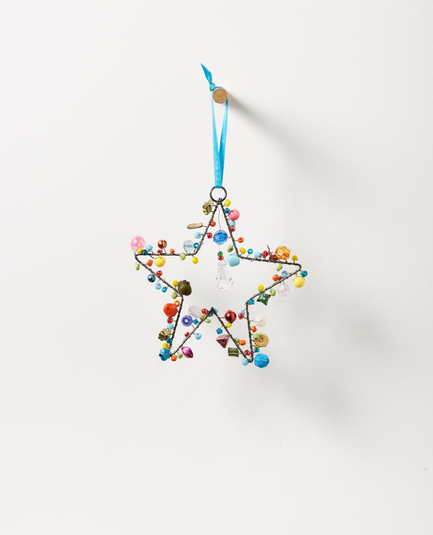 Starlight Hanging Beaded Star
