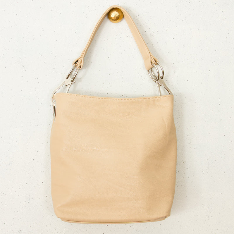 Double Ring Slouch Bucket Bag