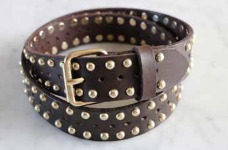 CARAVAN CHOC BELT WITH GOLD STUDS