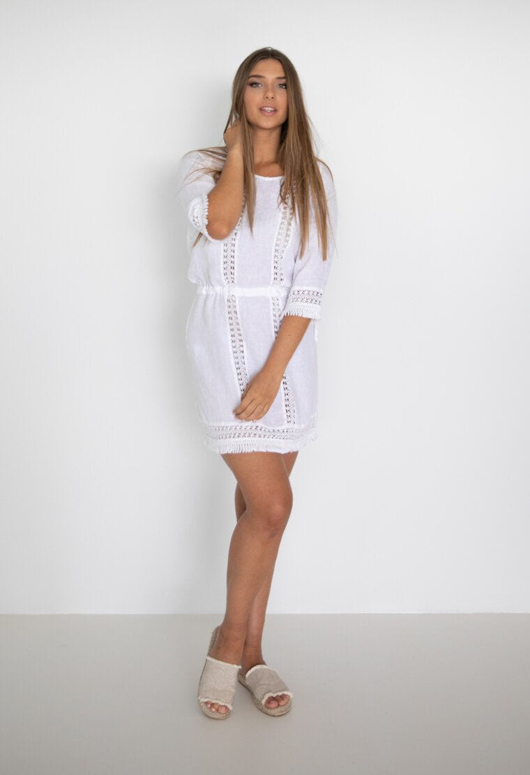 Bahama Dress -White
