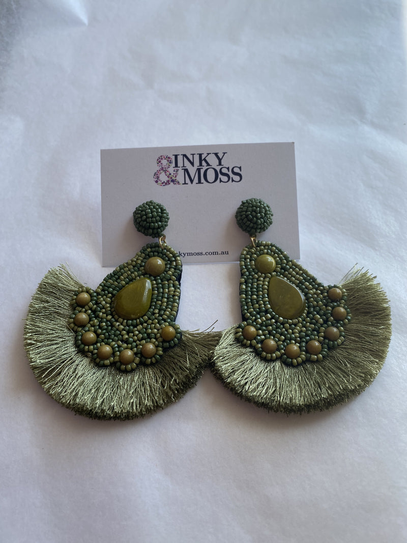 Inky & Moss Earrings #22