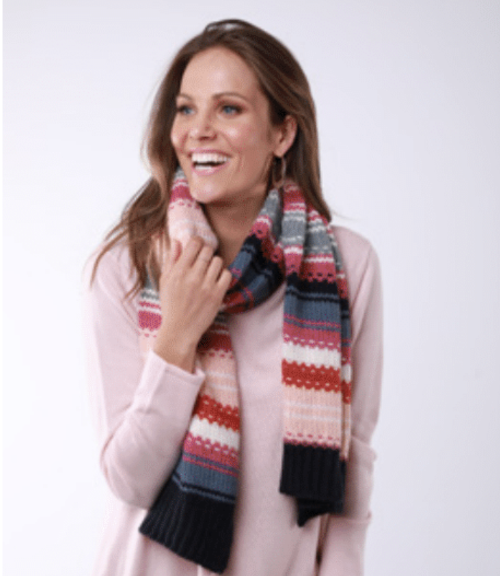 Textured Stripe Scarf