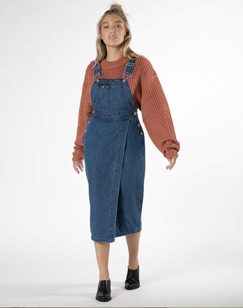 Cacey Denim Pinafore
