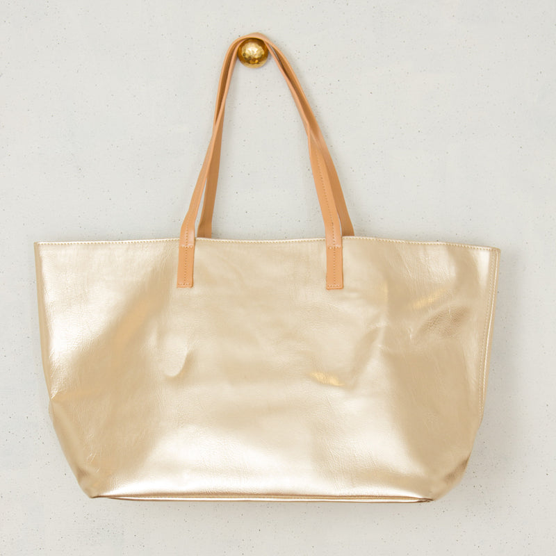 Contrast Handle PU Tote