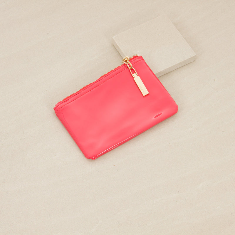 Glossy mini  Zip Purse