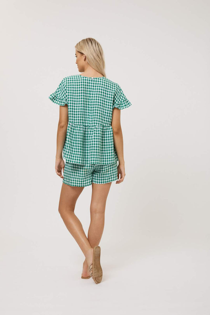Gingham Maple Tee