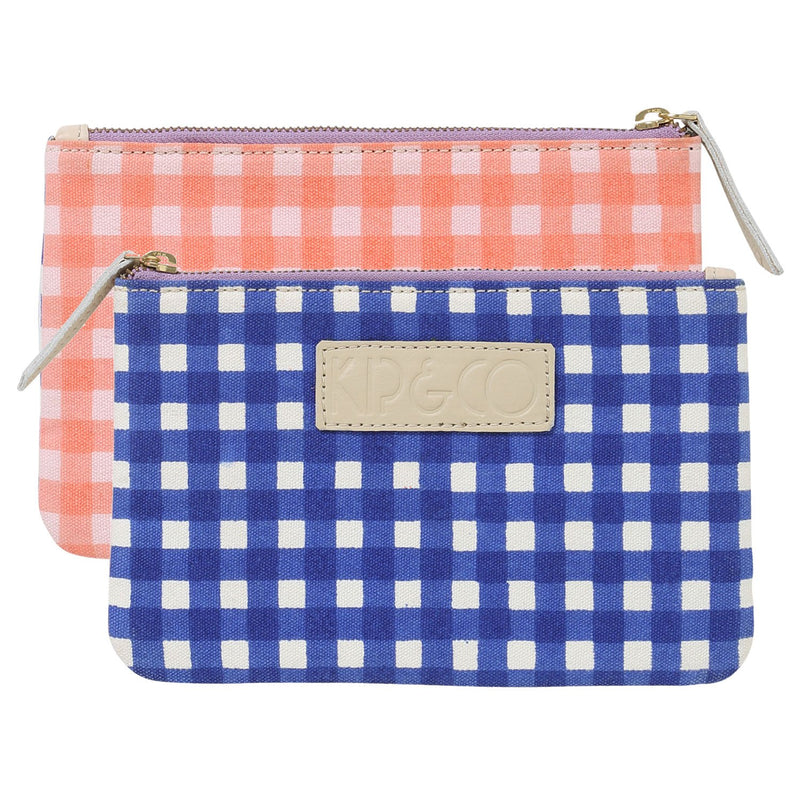 Gingham Cosmetics Purse- 3 options