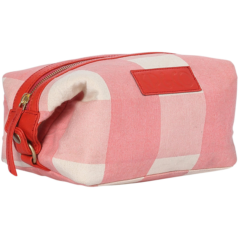 Lipstick Tartan Toiletry Bag