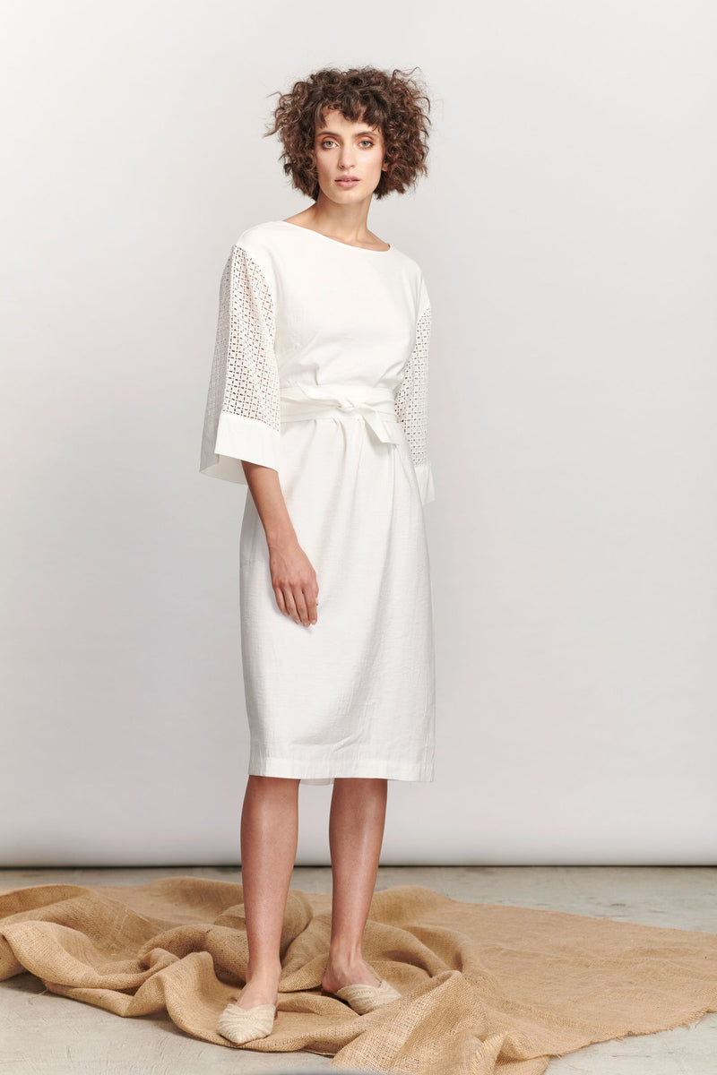 Marseille Dress/White