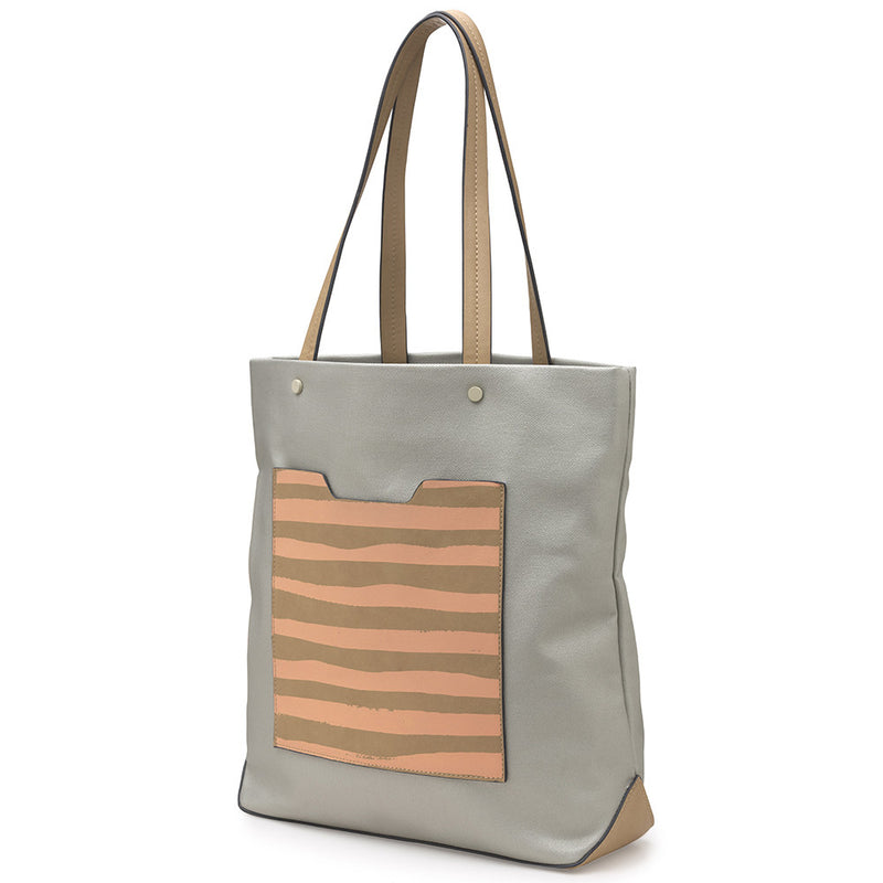 Brush Stripes Tote
