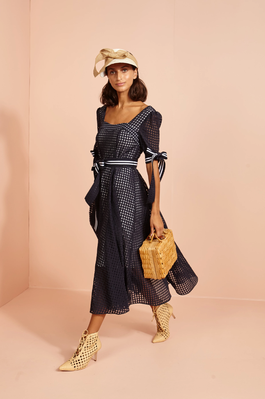 Hotel Imperial Midi Dress -navy