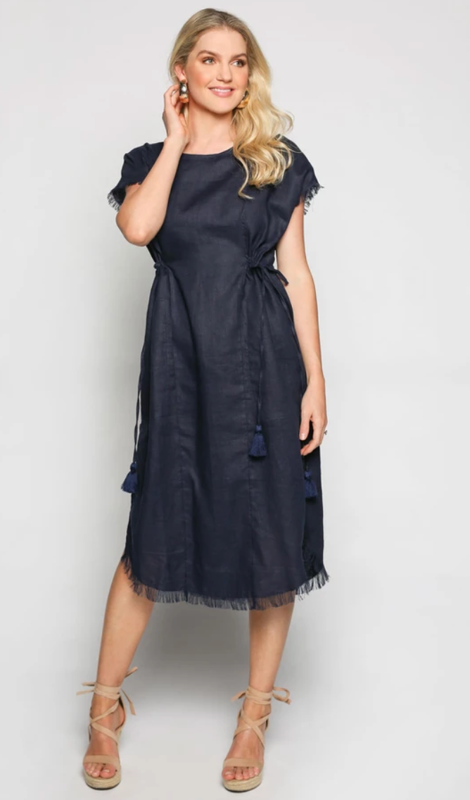 Myra Dress -navy