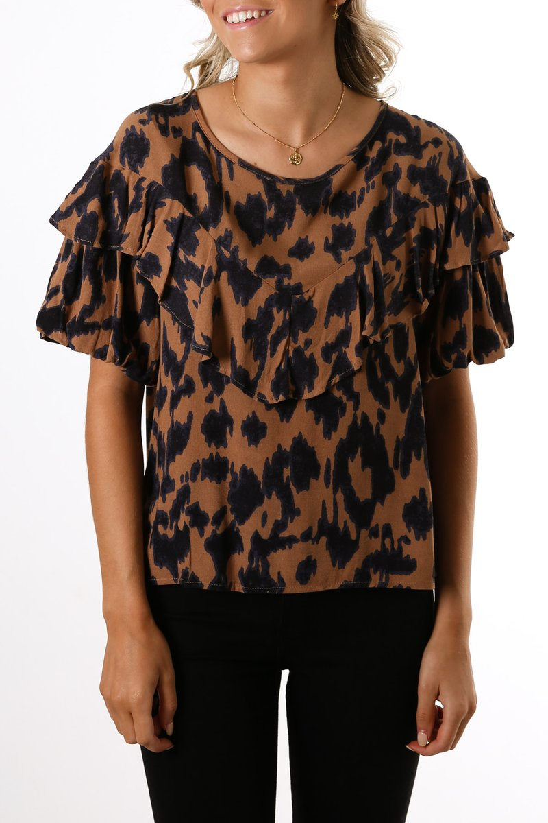 Sylvi Puff Top- 2 prints