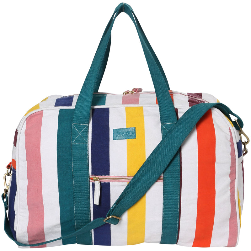 Big Stripes Primary Duffle Bag