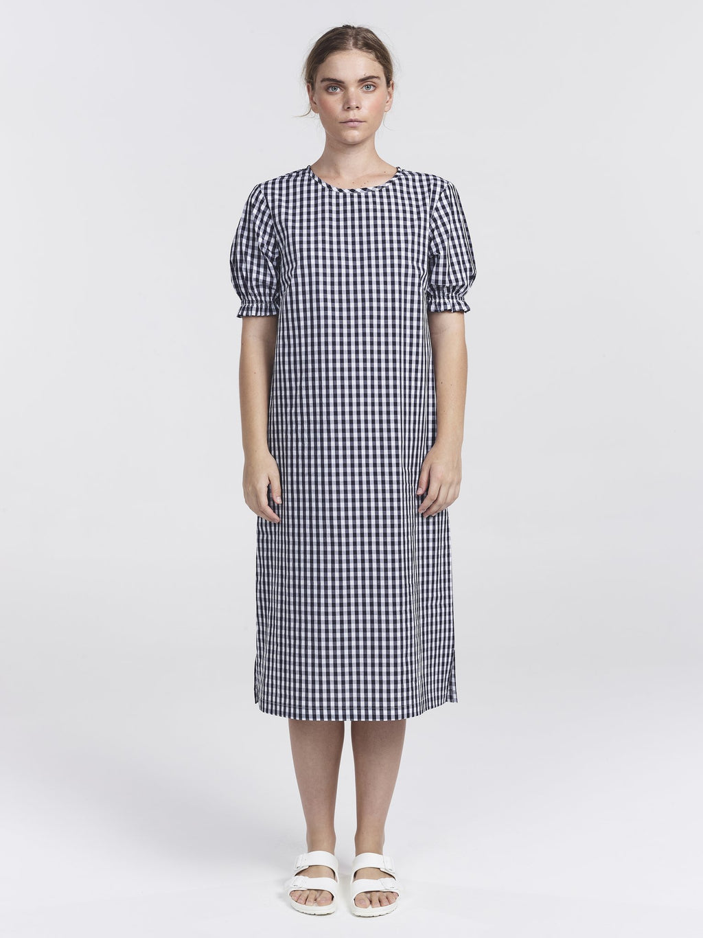 Clementine Dress-Navy Check