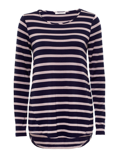 Tara Striped Long Sleeve Top