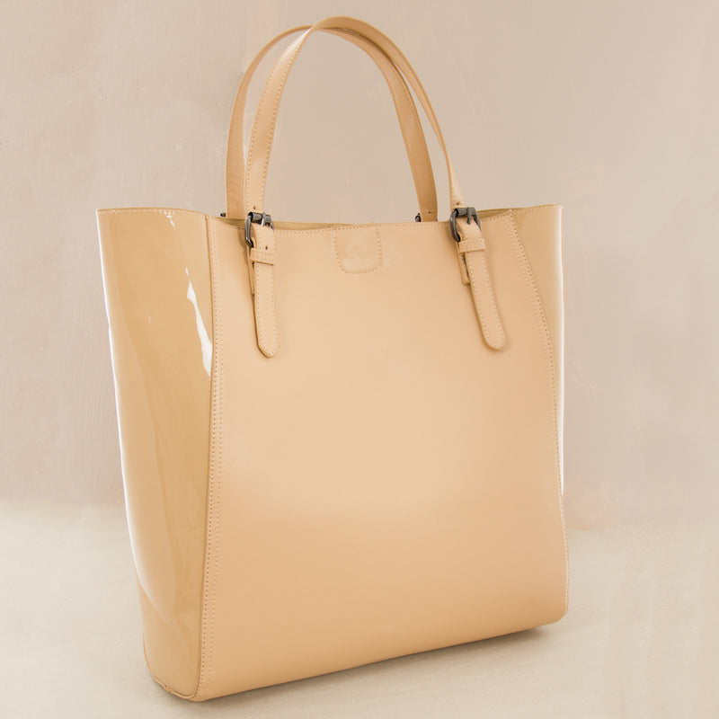 Gloss Winged PU Large Tote Bag