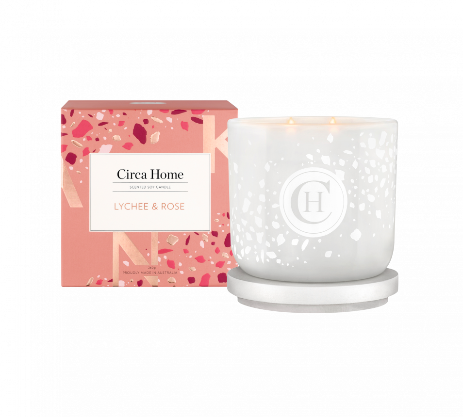 Lychee & Rose Soy Candle