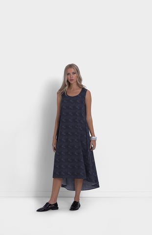 Blk/Wh Stripe Nevelson Dress