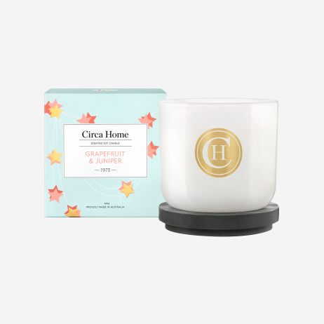 Grapefruit and Juniper Soy Candle