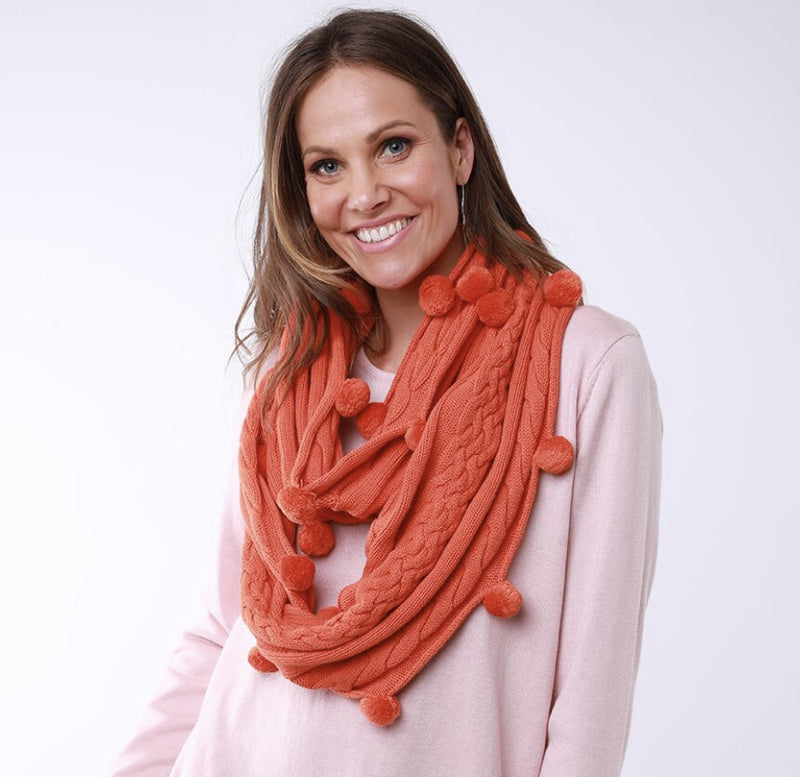 Bobble Loop Scarf - 3 Colours