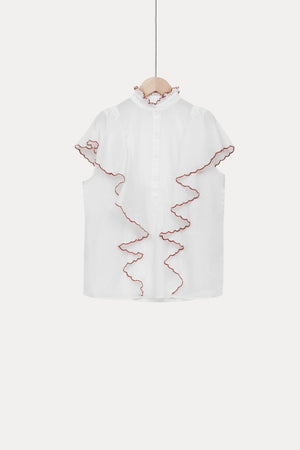 Lise Off White Cotton Top