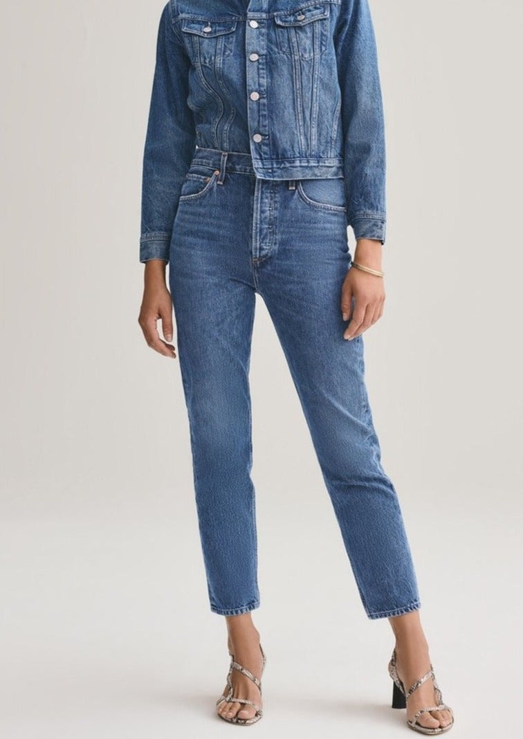 Riley Straight Crop Jeans