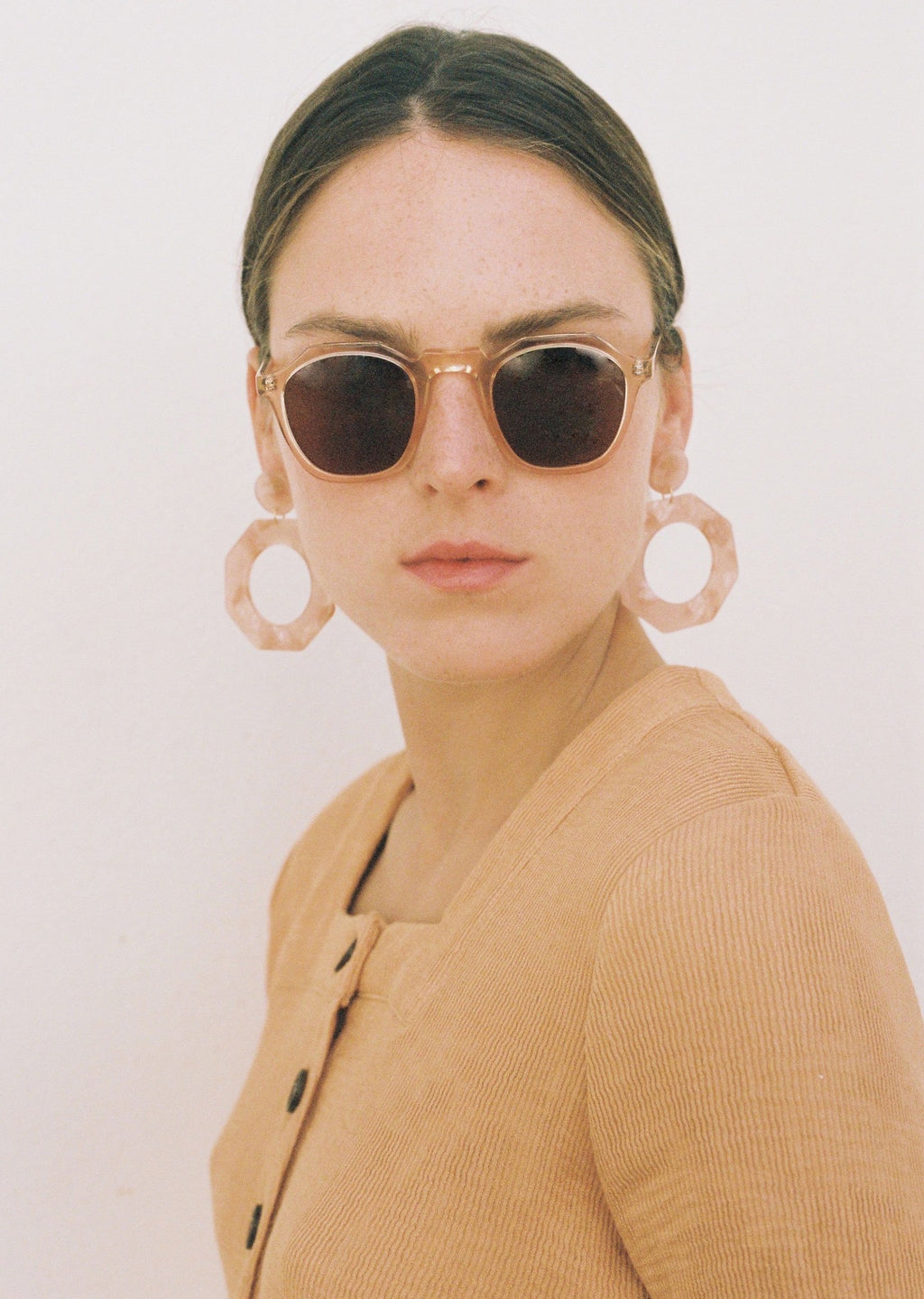 Dune Peach Sunglasses