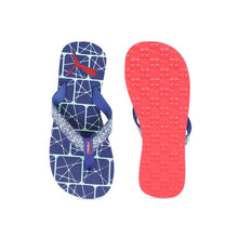 Load image into Gallery viewer, Puma Men's Blue Textured Thong Flip-Flops