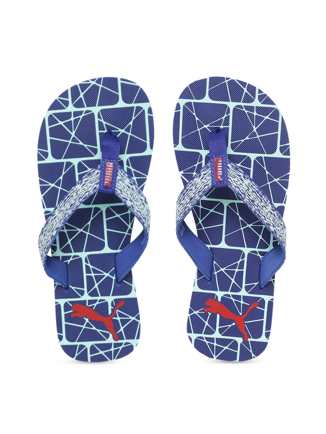 Puma Men's Blue Textured Thong Flip-Flops