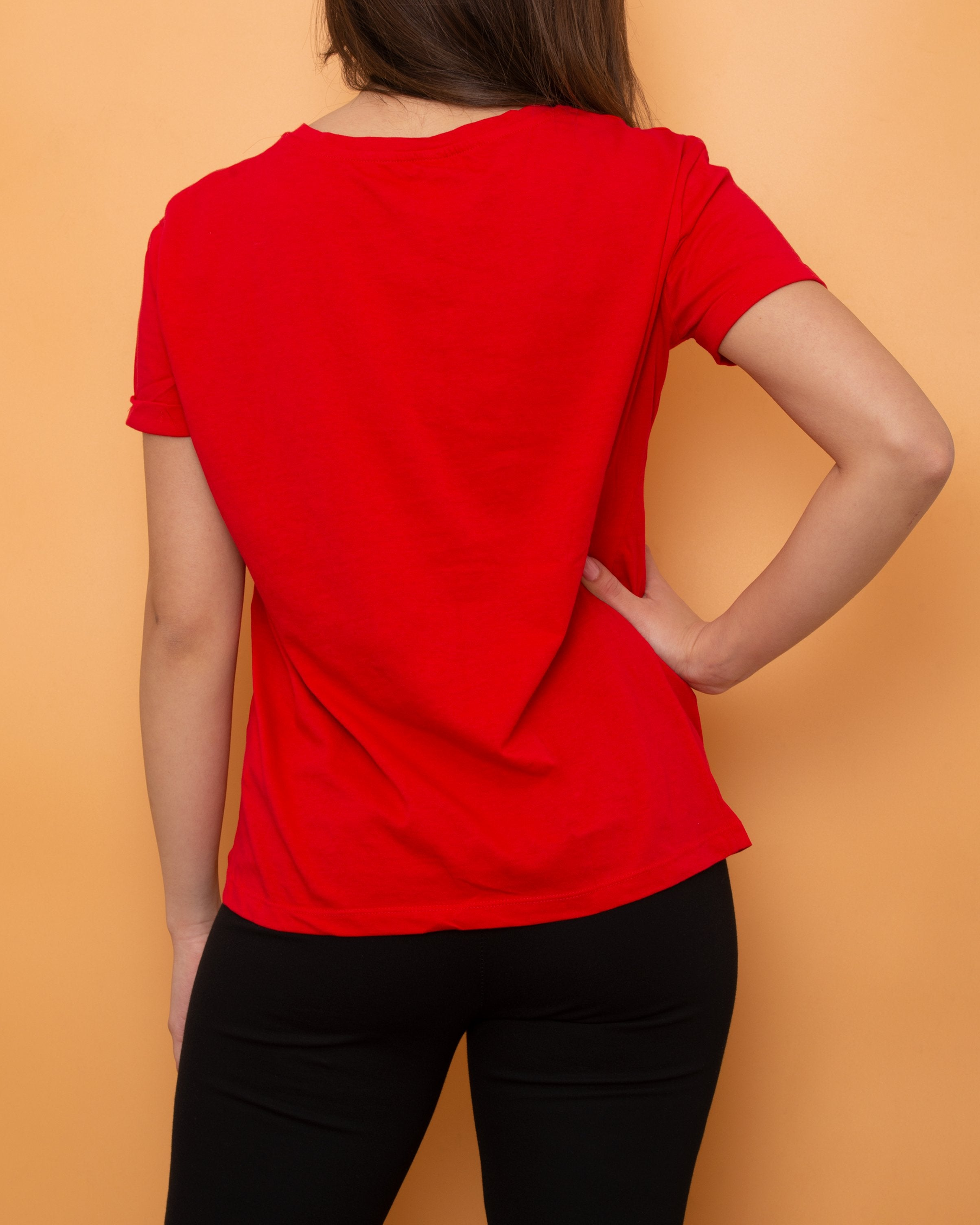 Stradivarius T-shirt Red