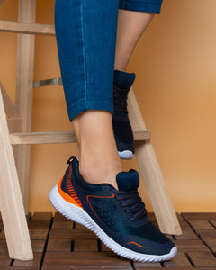 lc waikiki women navy orange shoes