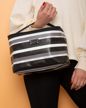 Load image into Gallery viewer, Tommy Hilfiger Handbag Black White Grey