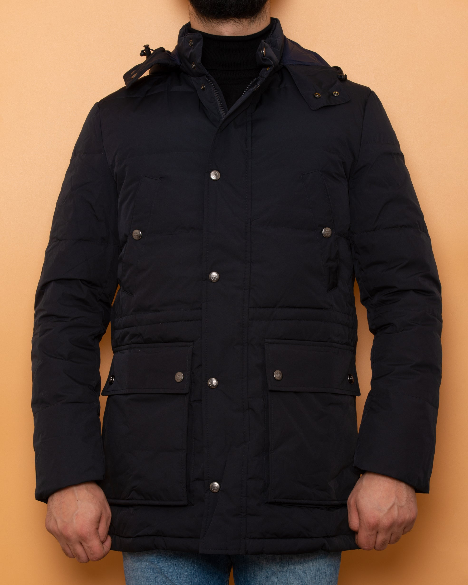 Massimo Dutti Waterproof Jacket Navy