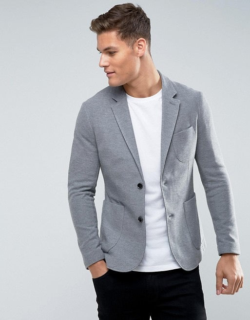 Celio Club Blazer Men Grey