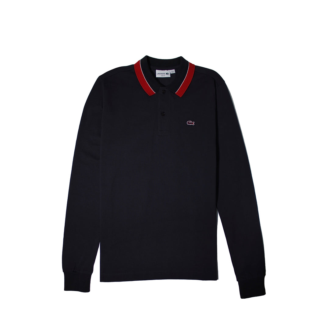 Lacoste Mens Long Sleeve Polo Shirts Dark Grey