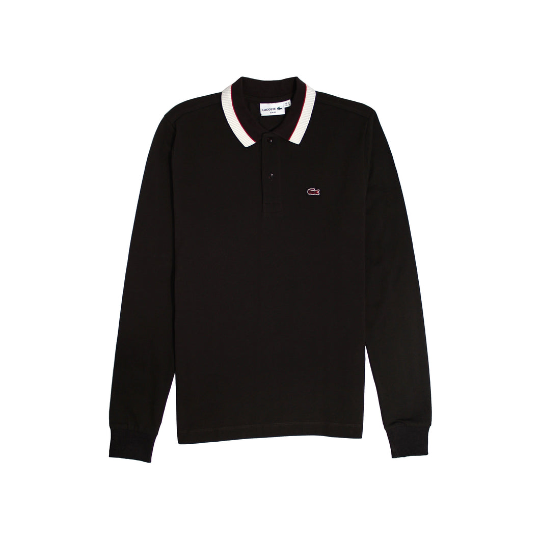 Lacoste Mens Long Sleeve Polo Shirts Brown